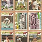 1977 Topps Los Angeles Dodgers Team Lot {25} Garvey Sutton Maury Wills Lopes Buckner +