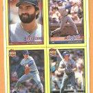 1990 Topps Wax Box Panel Texas Rangers Nolan Ryan Milwaukee Brewers Robin Yount Red Sox Dodgers