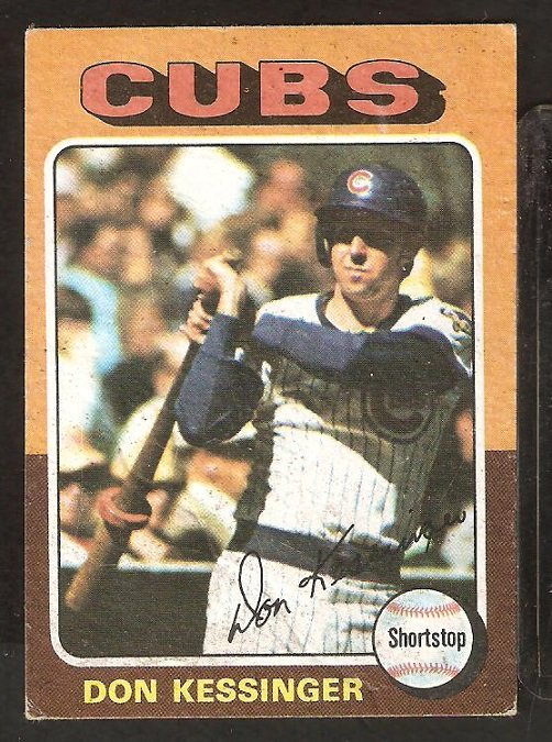1975 Topps # 315 Chicago Cubs Don Kessinger