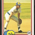 1981 Topps # 106 Milwaukee Brewers Don Money nr mt