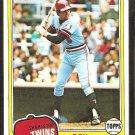 1981 Topps # 115 Minnesota Twins Roy Smalley nr mt