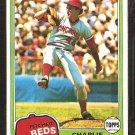 1981 Topps # 126 Cincinnati Reds Charlie Leibrandt Rookie Card RC nr mt