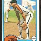 1981 Topps # 129 Houston Astros Art Howe nr mt
