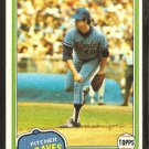 1981 Topps # 132 Atlanta Braves Tommy Boggs nr mt