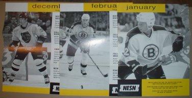 6 Diff Boston Bruins Schedule Flyers 1999-2001 Andreychuk Bill Guerin McLaren Hal Gill
