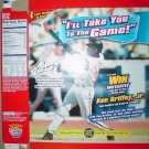 2001 Ritz Crackers Box With Cincinnati Reds Ken Griffey