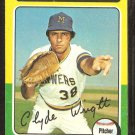 1975 Topps # 408 Milwaukee Brewers Clyde Wright vg
