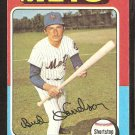 1975 Topps # 395 New York Mets Bud Harrelson ex