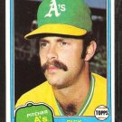 1981 Topps # 154 Oakland A's Athletics Rick Langford nr mt