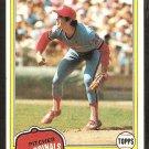 1981 Topps # 152 St Louis Cardinals John Urrea nr mt