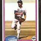 1981 Topps # 146 Los Angeles Dodgers Bobby Castillo nr mt