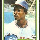 1981 Topps # 145 Texas Rangers Mickey Rivers nr mt