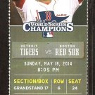 Detroit Tigers Boston Red Sox 2014 Ticket Victor Martinez Tori Hunter HR Cabrera 3 hits