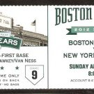 NEW YORK YANKEES BOSTON RED SOX 2012 TICKET SWISHER HR DEREK JETER 3 HITS