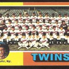 1975 Topps # 443 Minnesota Twins Team Card Unmarked Checklist ex