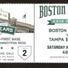 TAMPA BAY RAYS BOSTON RED SOX 2012 TICKET 6 HOME RUNS