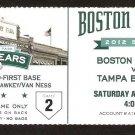 TAMPA BAY RAYS BOSTON RED SOX 2012 TICKET 6 HOME RUNS