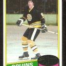 1980 Topps # 191 Boston Bruins Mike Milbury nr mt