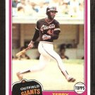 1981 Topps # 167 San Francisco Giants Terry Whitfield nr mt