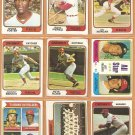 1974 Topps Cincinnati Reds Team Lot 29 diff Pete Rose Johnny Bench Ken Griffey RC Tony Perez