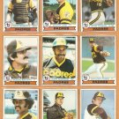 1979 Topps San Diego Padres Team Lot 15 diff Dave Winfield Gaylord Perry Rollie Fingers +