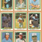 1981 Donruss Toronto Blue Jays Team Lot 9 diff Dave Stieb Ernie Whitt Bailor Velez +