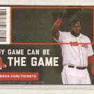 Boston Red Sox 2014 Pocket Schedule David Ortiz Any Game Can Be The Game