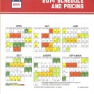 Boston Red Sox 2014 Schedule & Pricing Guide