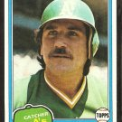 1981 Topps Baseball Card # 178 Oakland A's Athletics Jim Essian nr mt