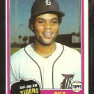 1981 Topps Baseball Card # 177 Detroit Tigers Rick Peters nr mt