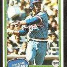 1981 Topps Baseball Card # 173 Texas Rangers Bump Wills nr mt
