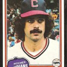 1981 Topps Baseball Card # 170 Cleveland Indians Ross Grimsley nr mt
