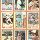 1982 Topps Baltimore Orioles Team Lot 26 diff Eddie Murray Singleton  Bumbry Flanagan +