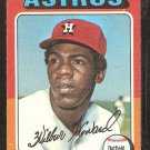1975 Topps Baseball Card # 563 Houston Astros Wilbur Howard g/vg