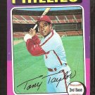 1975 Topps Baseball Card # 574 Philadelphia Phillies Tony Taylor vg/ex