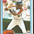 1981 Topps Baseball Card # 190 Houston Astros Cesar Cedeno nr mt