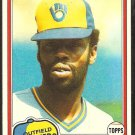 1981 Topps Baseball Card # 183 Milwaukee Brewers Dick Davis nr mt