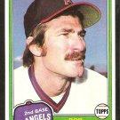 1981 Topps Baseball Card # 182 California Angels Bob Grich nr mt