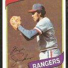 1980 Topps Baseball Card # 390 Texas Rangers Fergie Jenkins ex-em