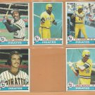 1979 Topps Pittsburgh Pirates Team Lot 10 Dave Parker Moreno Sanguillen Kison +