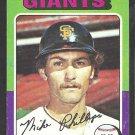 1975 Topps Baseball Card # 642 San Francisco Giants Mike Phillips vg