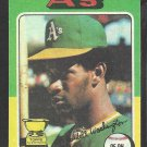 1975 Topps Baseball Card # 647 Oakland A's Athletics Claudell Washington