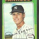 1975 Topps Baseball Card # 648 New York Yankees Dave Pagan