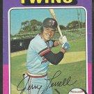 1975 Topps Baseball Card # 654 Minnesota Twins Jerry Terrell vg