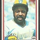 1981 Topps Baseball Card # 215 Milwaukee Brewers Larry Hisle nr mt