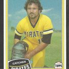 1981 Topps Baseball Card # 212 Pittsburgh Pirates Steve Nicosia nr mt