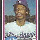 1981 Topps Baseball Card # 211 Los Angeles Dodgers Derrel Thomas nr mt