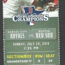 Kansas City Royals Boston Red Sox 2014 Ticket Jon Lester David Ross HR Nava Escobar