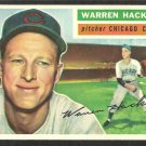 CHICAGO CUBS WARREN HACKER 1956 TOPPS # 282 EX MT