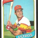 1980 Topps Baseball Card # 554 Houston Astros Art Howe em/nm